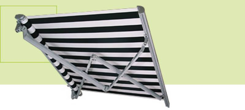 gelenkarm markise mit mehr ausladung als breite. Black Bedroom Furniture Sets. Home Design Ideas